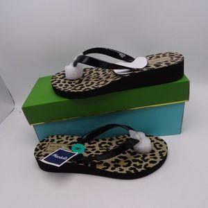 Kate Spade Milli Leopard Flip Flop Sz 7 & 8 New